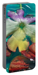 Underwater Flower Abstraction 5 Portable Battery Charger