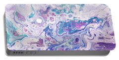 Underwater Worlds Fragment 1.  Abstract Fluid Acrylic Painting Portable Battery Charger