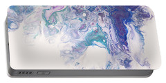 Underwater Worlds Fragment 7. Abstract Fluid Acrylic Painting Portable Battery Charger