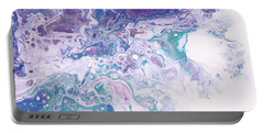 Underwater Worlds Fragment 8.  Abstract Fluid Acrylic Painting Portable Battery Charger