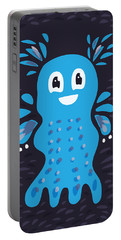 Undiscovered Blue Cute Sea Creature Portable Battery Charger