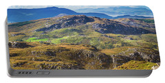 Undulating Landscape In Kerry In Ireland Portable Battery Charger by Semmick Photo
