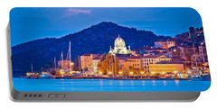 Unesco Town Of Sibenik Blue Hour View Portable Battery Charger