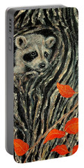 Portable Battery Charger featuring the painting Unexpected Visitor by Susan DeLain
