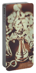 Unfallen Tower Of The Chess Game Portable Battery Charger by Jorgo Photography - Wall Art Gallery