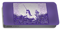 Unicorn In Purple Portable Battery Charger