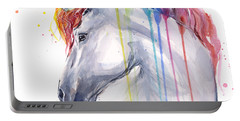 Unicorn Rainbow Watercolor Portable Battery Charger