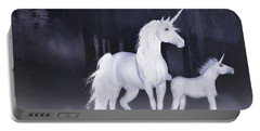 Unicorns In The Mist Portable Battery Charger