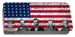 Union Heroes And The American Flag Portable Battery Charger