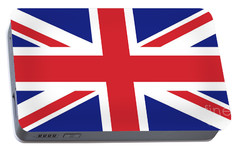 Union Jack Ensign Flag 1x2 Scale Portable Battery Charger by Bruce Stanfield