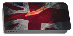 Union Jack Fine Art, Abstract Vision Of Great Britain Flag Portable Battery Charger