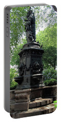 Portable Battery Charger featuring the photograph Union Square Park Water Fountain by Iowan Stone-Flowers