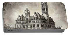 Union Station Mixed Media Portable Battery Charger