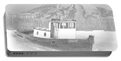 Tugboat Union Portable Battery Charger by Terry Frederick