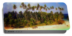 Unique Symbolic Island Art Photography Icon Zanzibar Sands Beaches Tourist Destination. Portable Battery Charger