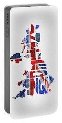United Kingdom Typographic Kingdom Portable Battery Charger