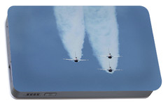 Portable Battery Charger featuring the photograph United States Air Force Thunderbirds by Robert Banach