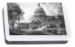 United States Capitol Building Portable Battery Charger by War Is Hell Store