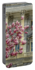 United States Capitol - Magnolia Tree Portable Battery Charger by Marianna Mills