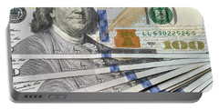 United States Usd 100 Note Closeup Portable Battery Charger