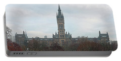 University Of Glasgow At Sunrise - Panorama Portable Battery Charger