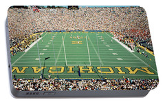 University Of Michigan Stadium, Ann Portable Battery Charger by Panoramic Images