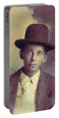 Unknown Boy In A Bowler Hat Portable Battery Charger by Matt Lindley