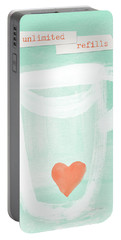 Unlimited Refills- Art By Linda Woods Portable Battery Charger