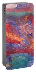 Untitled 95 Original Painting Portable Battery Charger