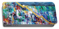 Portable Battery Charger featuring the painting Untitled by Judith Rhue