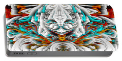 Portable Battery Charger featuring the digital art 992.042212mirrorornategoldvert-2-c by Kris Haas