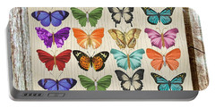 Colourful Butterflies Collage Portable Battery Charger