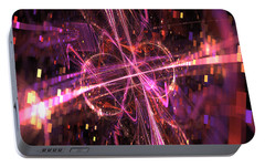 Portable Battery Charger featuring the digital art Unwind Yourself by Jeff Iverson