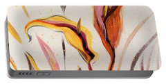 Up - Abstract Flower Painting Portable Battery Charger