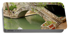 Portable Battery Charger featuring the photograph Up And Over - San Antonio River Walk by Art Block Collections
