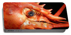 Up Close Lobster Portable Battery Charger by Patricia Piffath