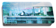 Portable Battery Charger featuring the digital art Up On The Roof - II by Mary Machare