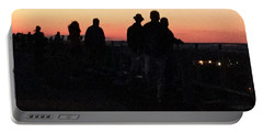 Up On The Roof Waiting For The Fireworks Portable Battery Charger by Patricia E Sundik
