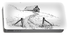 Up The Hill To The Old Barn Portable Battery Charger