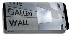 Portable Battery Charger featuring the photograph Up The Wall-the Gallery Wall Logo by Wendy Wilton