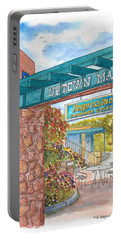 Sedona Up Town Mall In Sedona, California Portable Battery Charger by Carlos G Groppa