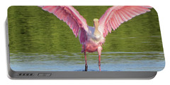 Up, Up And Away Sanibel Spoonbill Portable Battery Charger