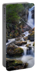 Portable Battery Charger featuring the photograph Upper Race Brook Falls 2017 by Bill Wakeley