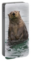 Portable Battery Charger featuring the photograph Upright Sea Otter by Chris Scroggins