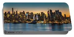 Uptown And Midtown At Sunrise Portable Battery Charger