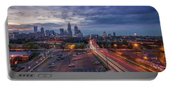 Uptown Charlotte Rush Hour Portable Battery Charger by Serge Skiba