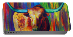 Uptown Longhorn Portable Battery Charger by Karen Kennedy Chatham