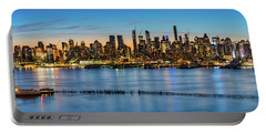 Uptown Skyline At Sunrise Portable Battery Charger