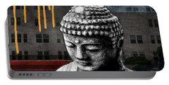 Urban Buddha  Portable Battery Charger by Linda Woods