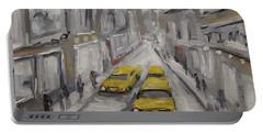 Urban Haze Cityscape By Prankearts Portable Battery Charger
